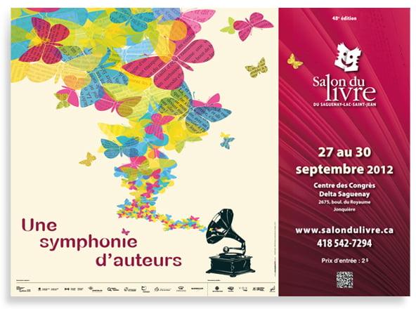 Affiche du Salon du Livre 2012